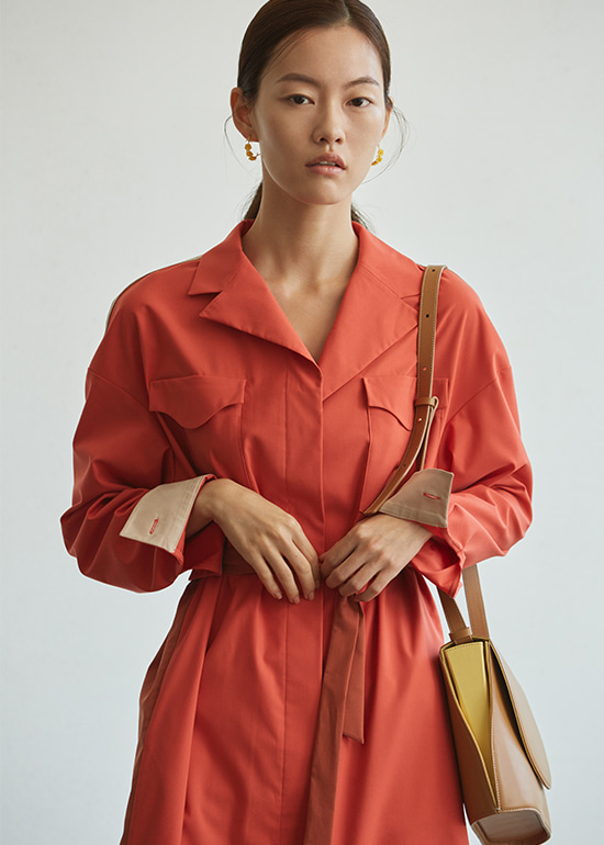 sunset trench dress